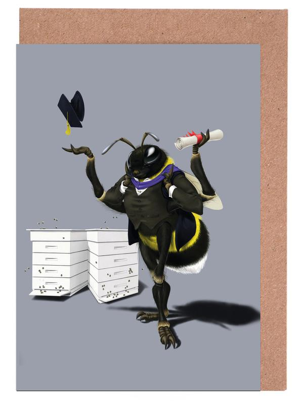 To bee or not to bee (colored) Greeting Card Set