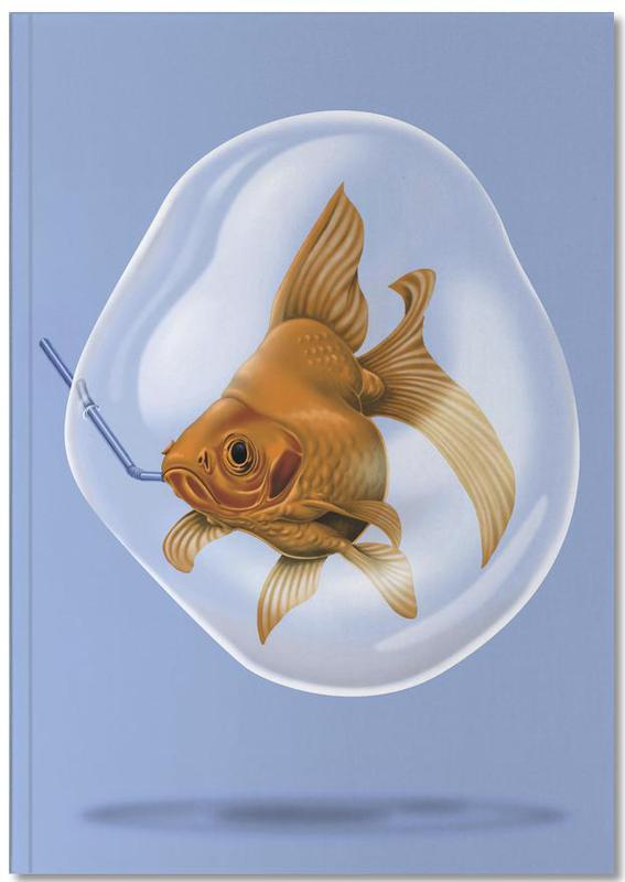 Fish, A breath of fresh air (colored) Notebook