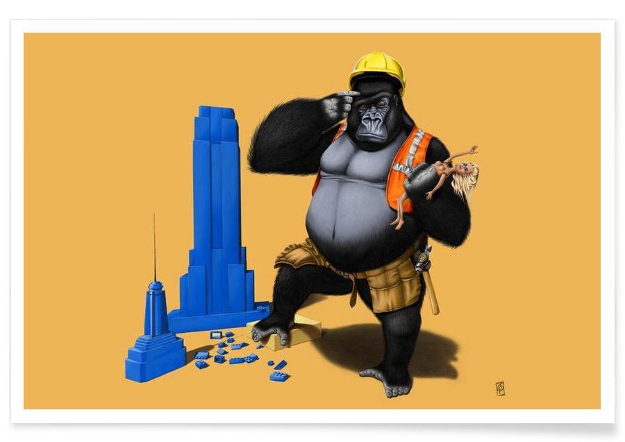 Singes, Building an empire (colored) affiche