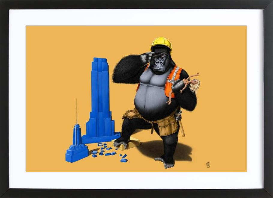 Building an empire (colored) Framed Print