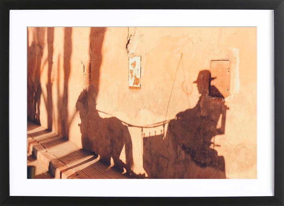 Marrakesh Paradise 3 affiche sous cadre en bois