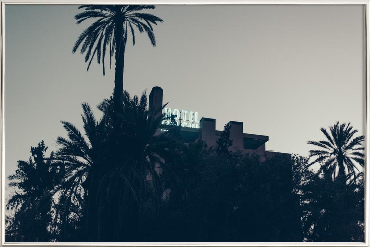 Marrakesh Paradise 16 -Poster im Alurahmen