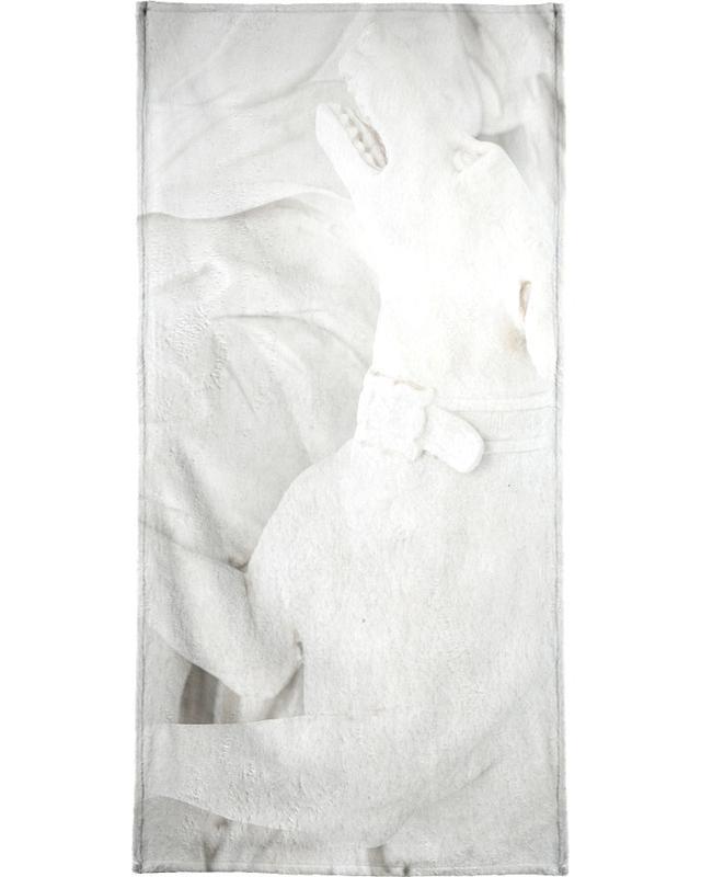 Chiens, Porcelain Greyhound serviette de bain