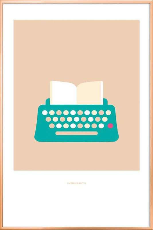 Paperback Writer -Poster im Alurahmen
