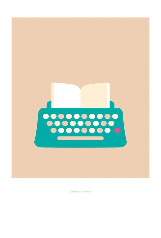 Paperback Writer Aluminium Print