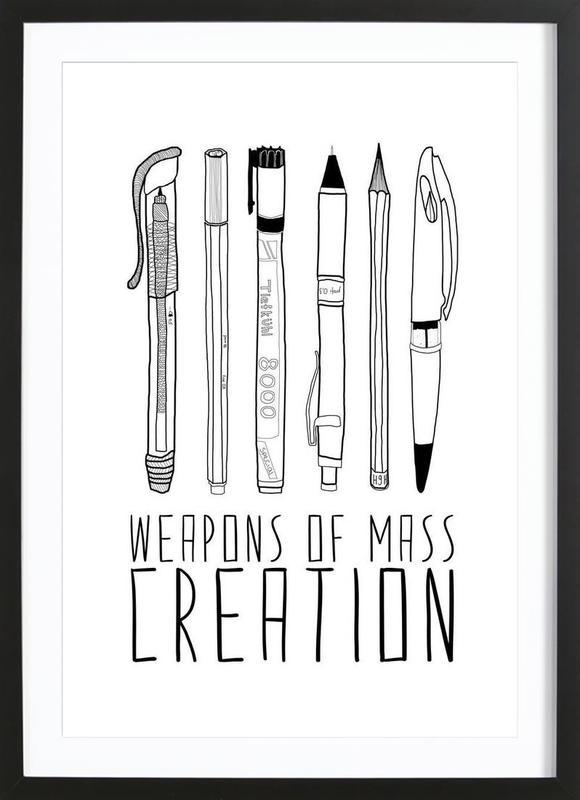 Weapons of Mass Creation ingelijste print