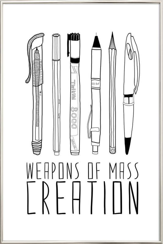 Weapons of Mass Creation Poster in Aluminium Frame