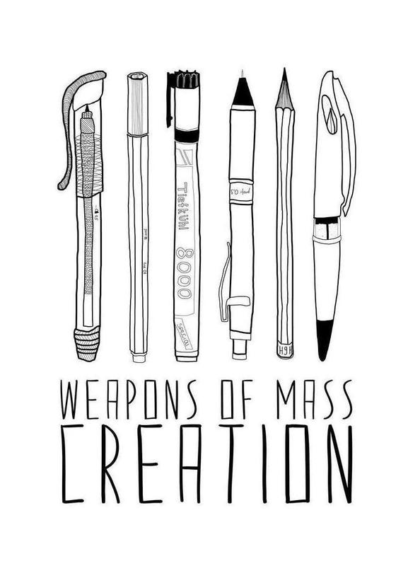 Weapons of Mass Creation canvas doek