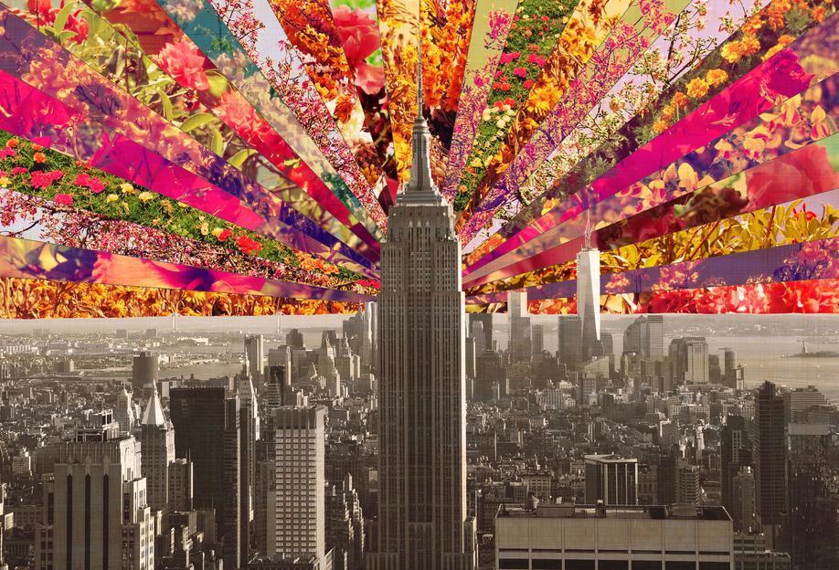 Blooming NY -Acrylglasbild