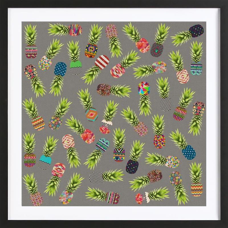 Crazy Pineapple Party Framed Print