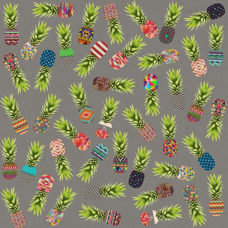 Crazy Pineapple Party -Acrylglasbild