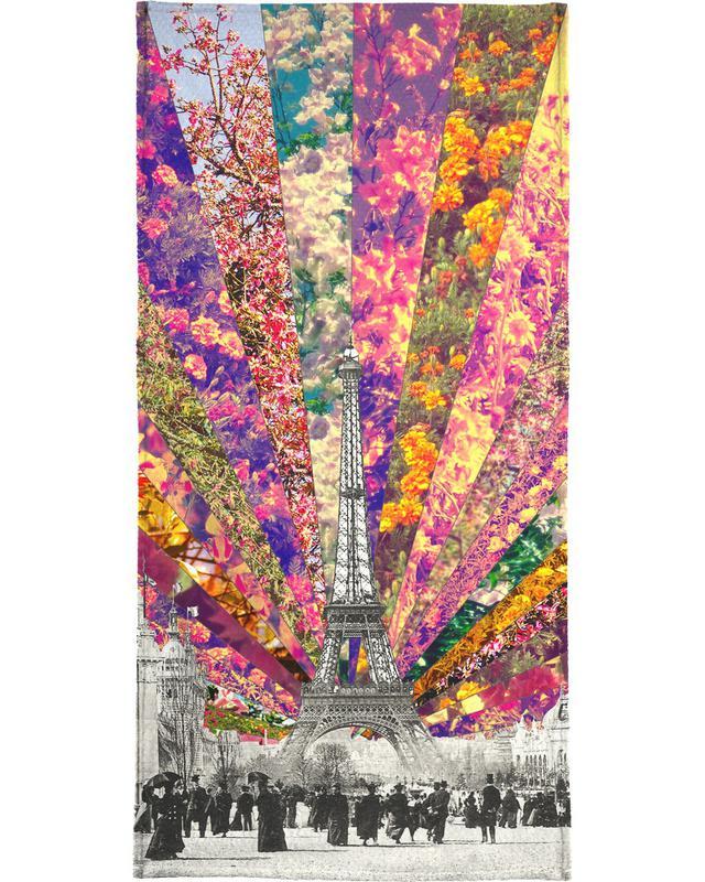 Paris, Vintage Paris Beach Towel