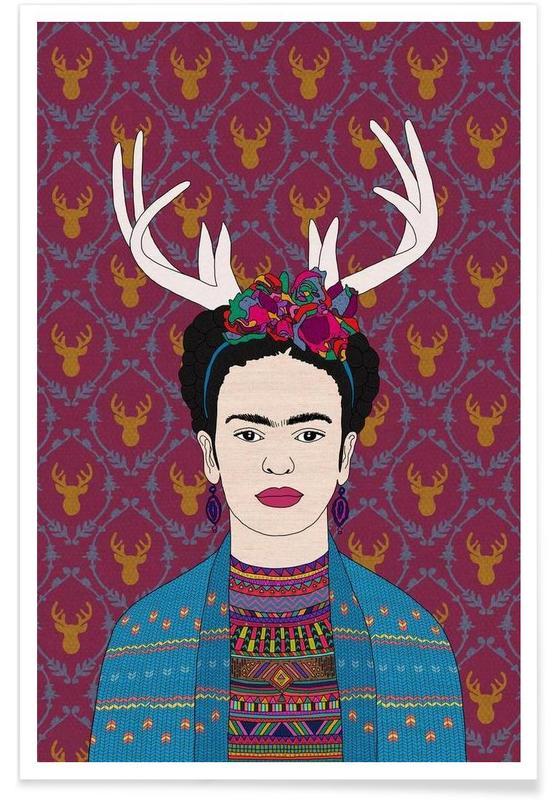 Deer Frida Poster
