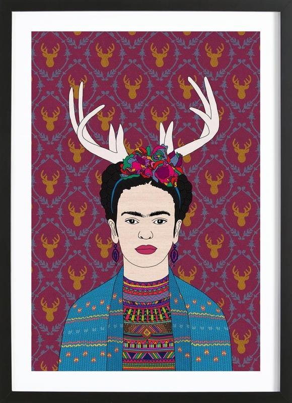 Deer Frida ingelijste print