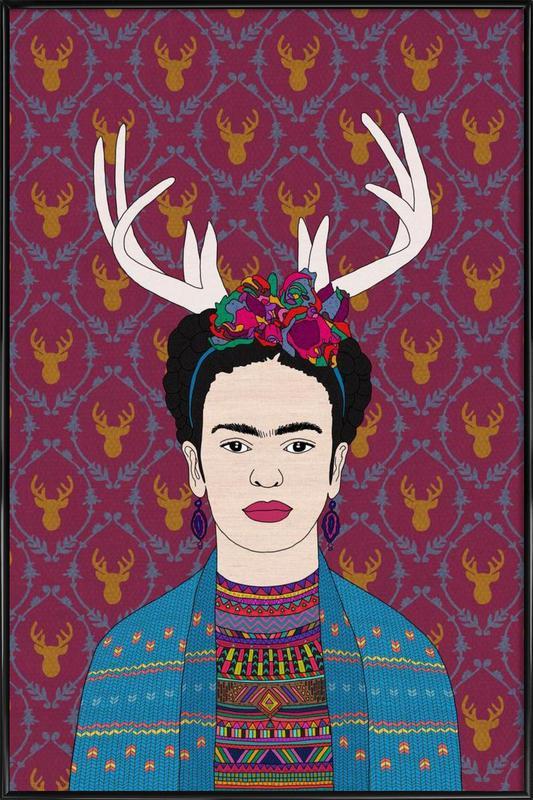 Deer Frida -Bild mit Kunststoffrahmen