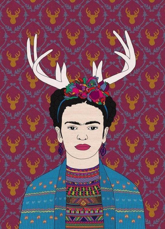 Deer Frida Canvas Print