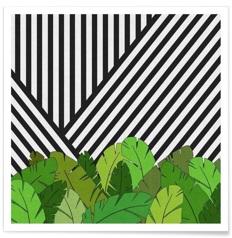 Feuilles & Plantes, Green Direction affiche