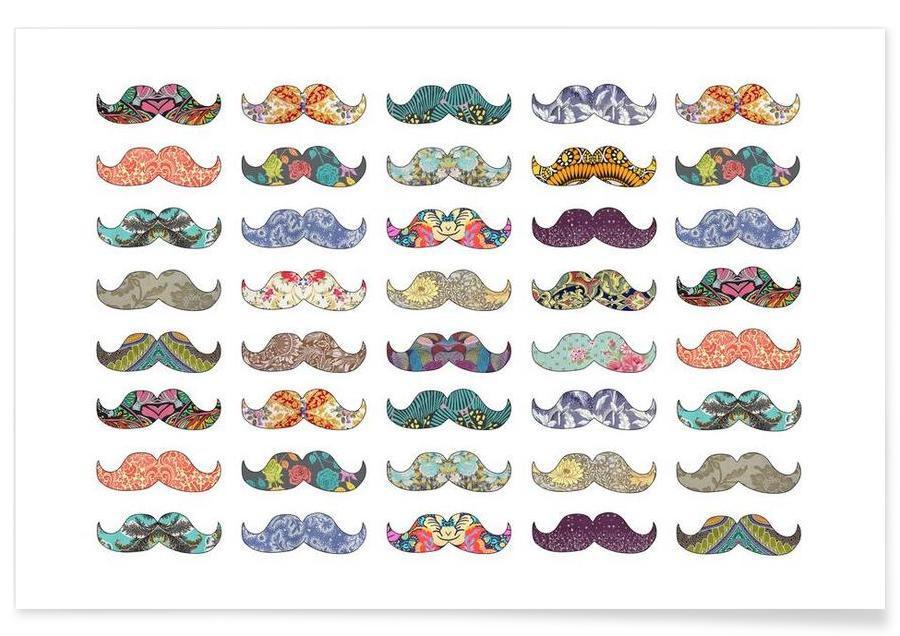 Mustache Mania -Poster