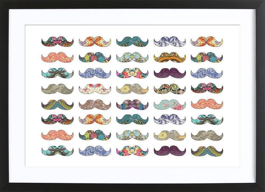 Mustache Mania Framed Print