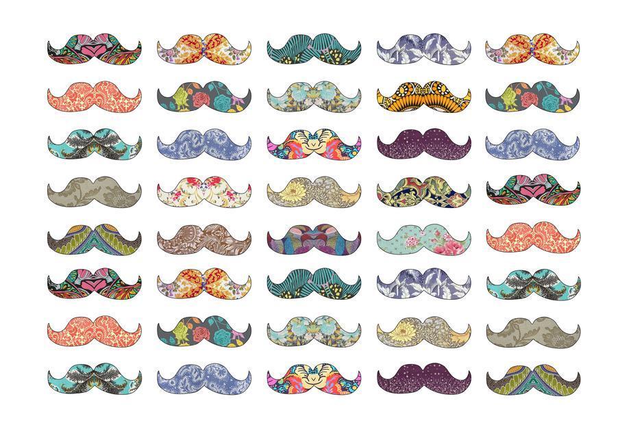 Mustache Mania alu dibond