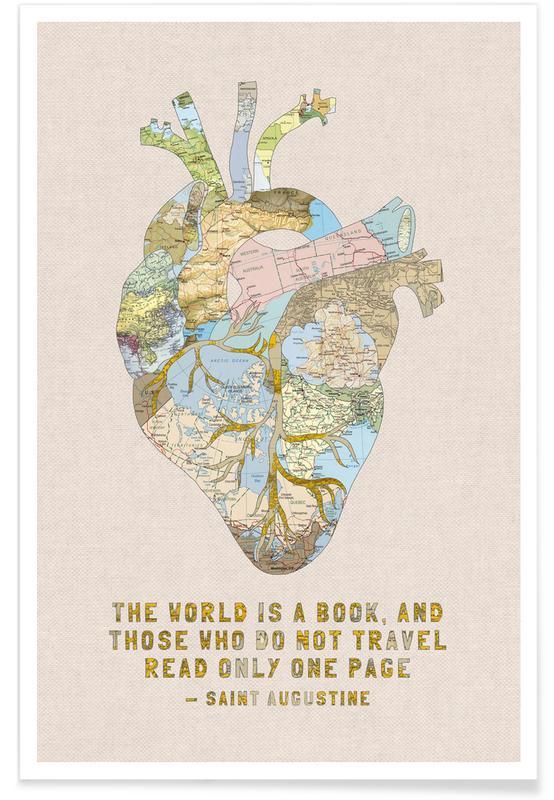 A Traveler's Heart Poster   JUNIQE