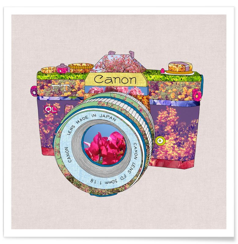 , Floral Camera poster