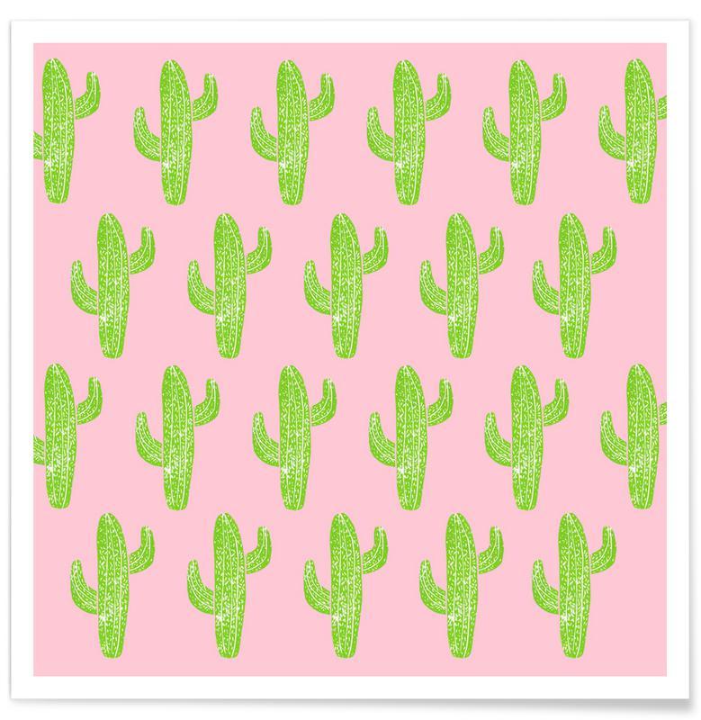 Kaktus, Cacti Minty Pink -Poster