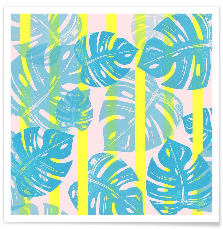 Bladeren en planten, Monstera Neon poster