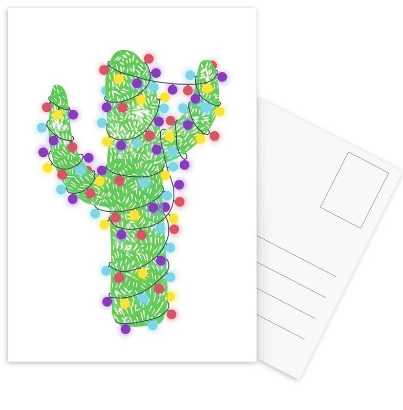 Festive Cacti - Lights On cartes postales