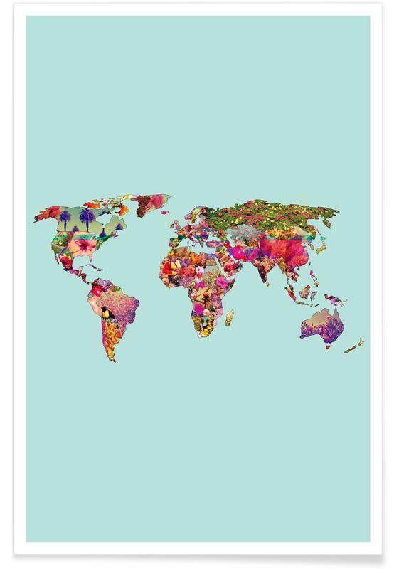 Verdenskort, It's Your World Plakat