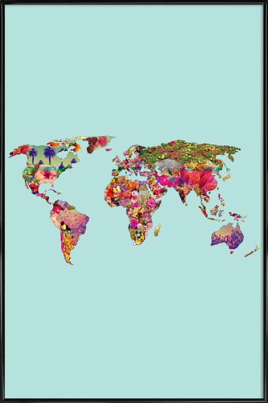 It's Your World -Bild mit Kunststoffrahmen