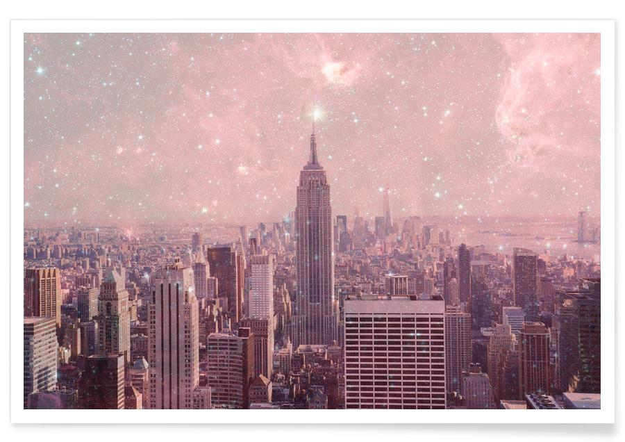 New York, Skylines, Stardust Covering NYC Poster