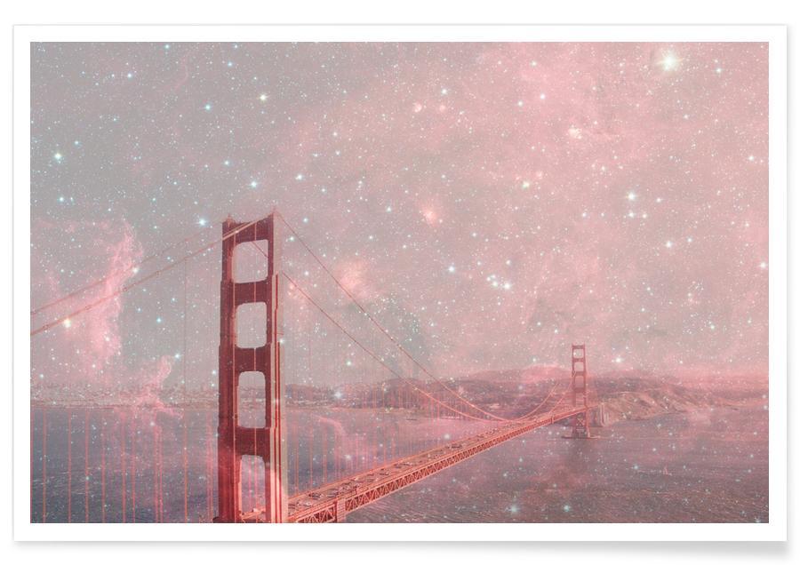 San Francisco, Cartes de villes, Stardust Covering San Francisco affiche