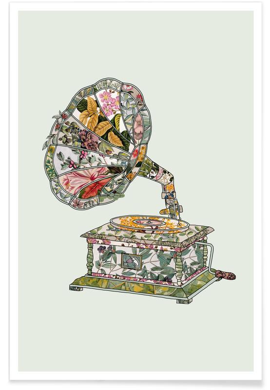 , Seeing Sound Vintage Botanical Poster