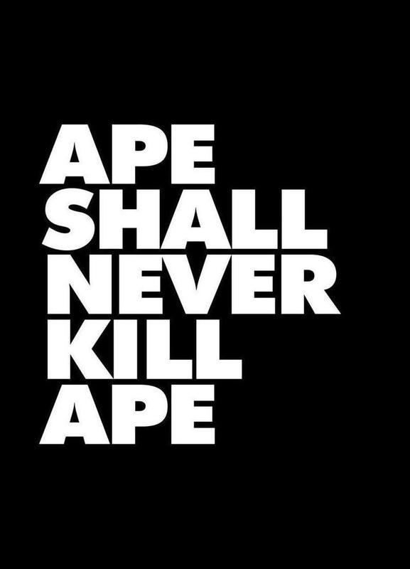 APE SHALL NEVER KILL APE canvas doek
