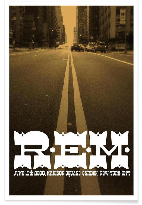 R.E.M. GIG POSTER Poster