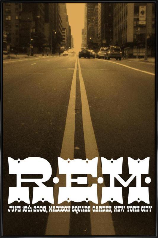 R.E.M. GIG POSTER ingelijste poster