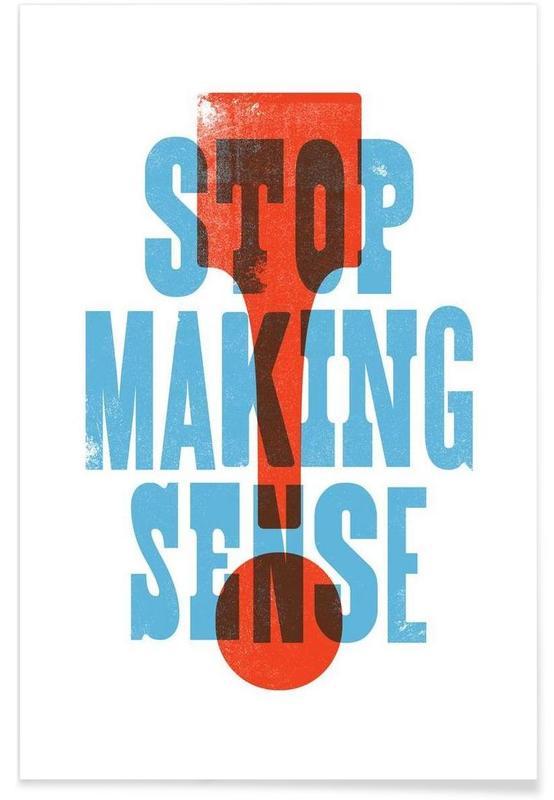 STOP MAKING SENSE affiche