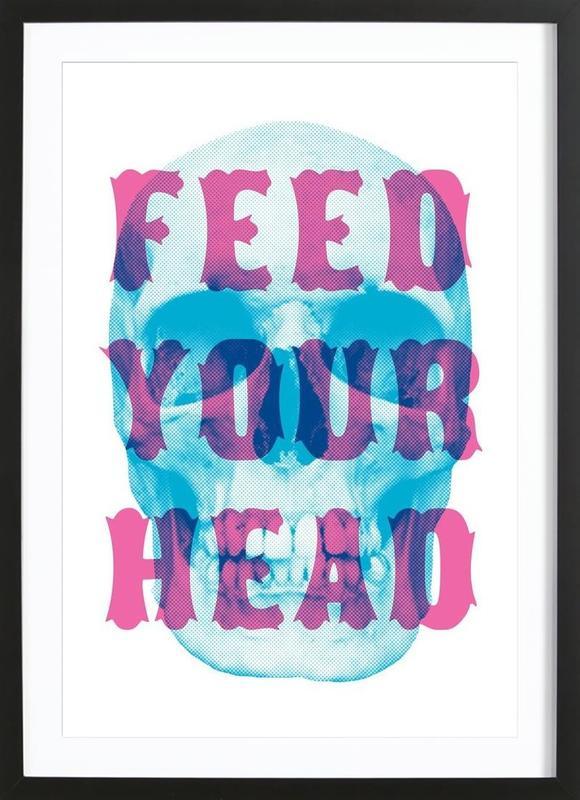 FEED YOUR HEAD -Bild mit Holzrahmen