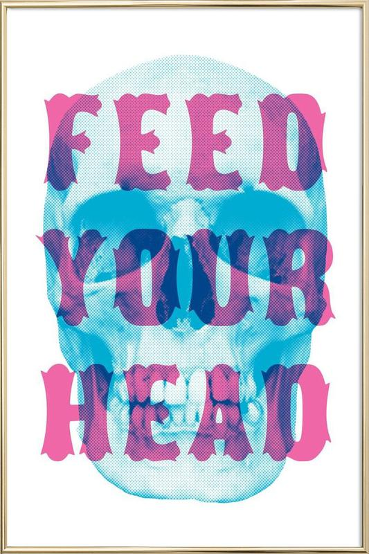 FEED YOUR HEAD poster in aluminium lijst