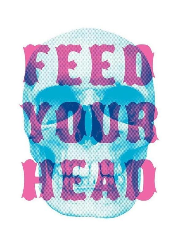 FEED YOUR HEAD canvas doek