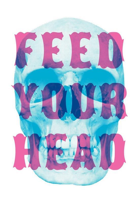 FEED YOUR HEAD Aluminium Print