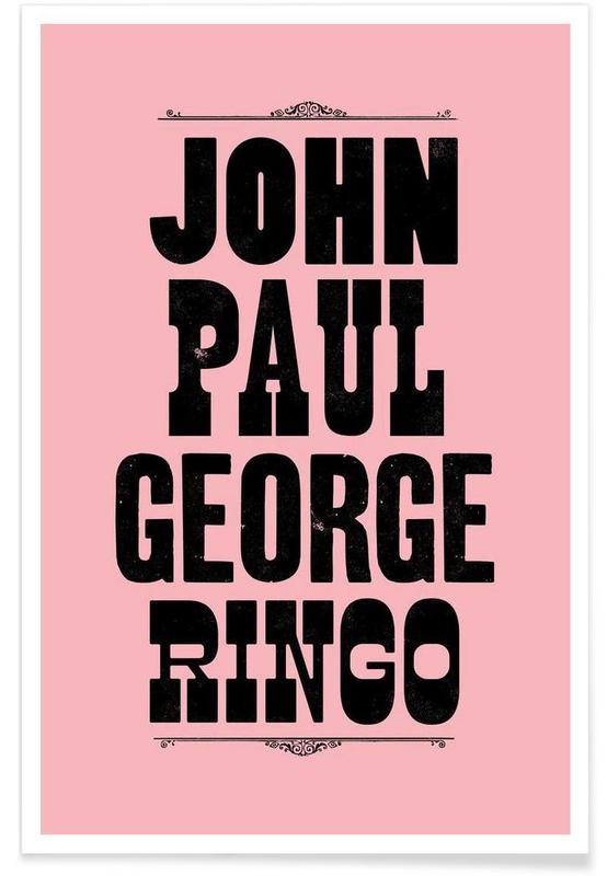 JOHN PAUL GEORGE & RINGO affiche