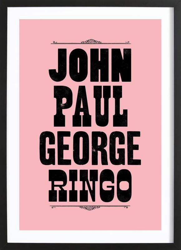JOHN PAUL GEORGE & RINGO Framed Print