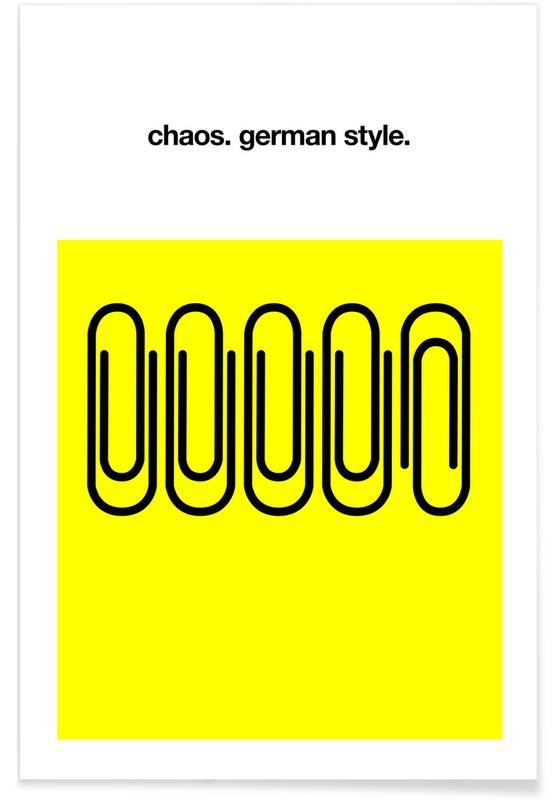 Funny, Motivational, Quotes & Slogans, German Chaos Poster