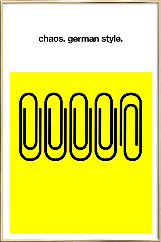German Chaos poster in aluminium lijst