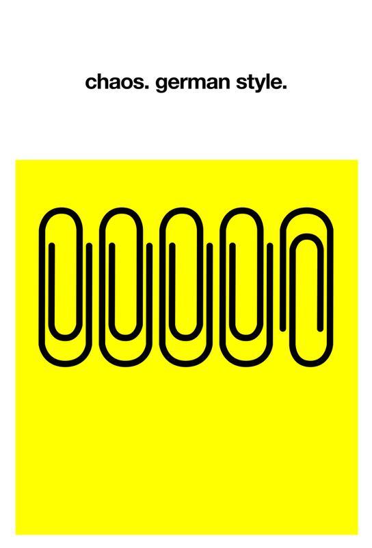 German Chaos -Acrylglasbild