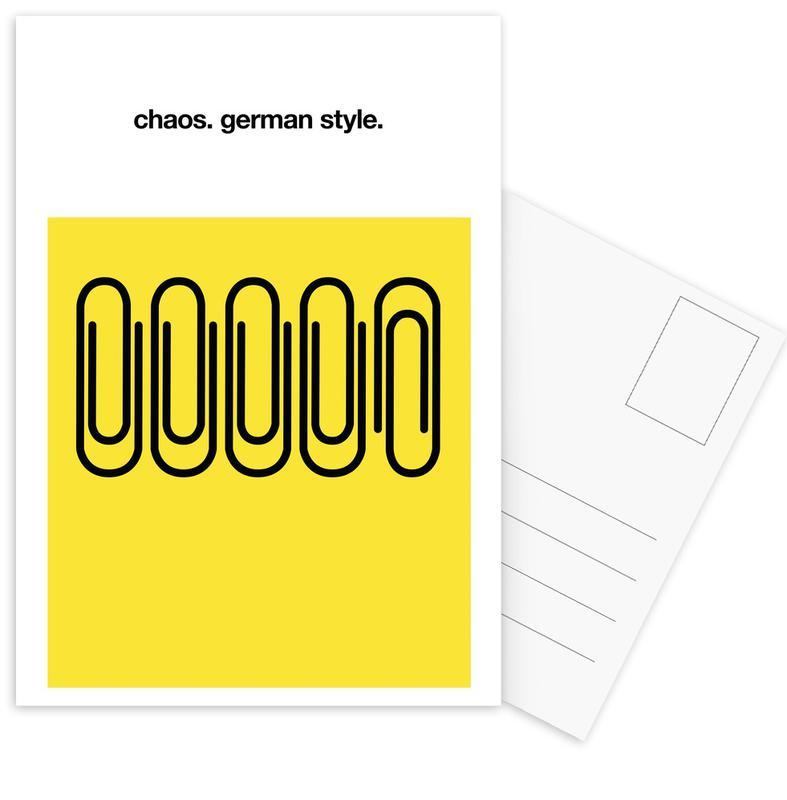 German Chaos -Postkartenset