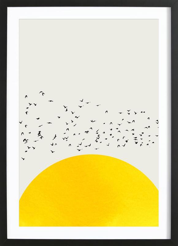A Thousand Birds Poster i träram