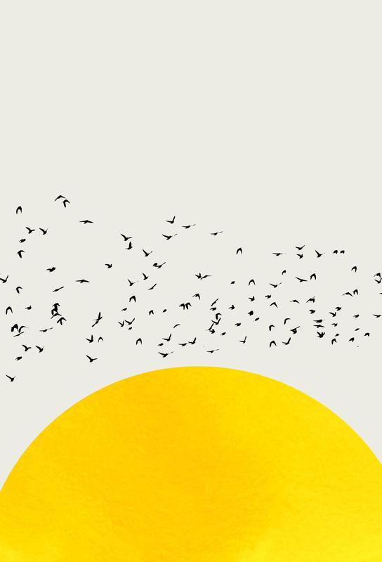 A Thousand Birds tableau en verre